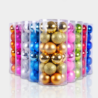Hot Selling Rainbow Color ChristmasTree Multi Color Baubles Xmas Variety Decoration