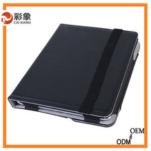 2015 New Arrive Fashion PU Leather Holster Hand Strap 360 Rotating Cover Case For ipad