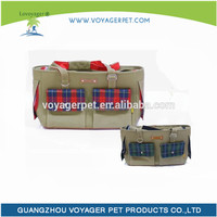 Lovoyager Soft Blue & Pink Grid Pet Dog Carrier Dog Bag Carrier