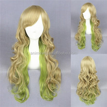 High Quality 65cm Long Wave Green Mixed Synthetic Lolita Wig Cosplay Costume Lolita Hair Girl's Wig Party Wig