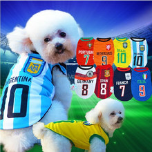 WholeFootball World Cup Life Dog Vest Shirt Summer Pet Cat Sport waistcoat