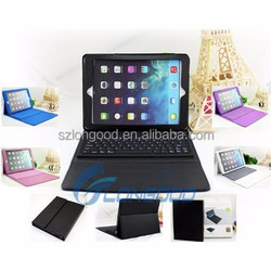 NEW Wireless Silicone Bluetooth Keyboard PU Leather Stand Case for Ipad5