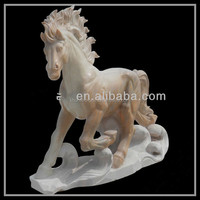 marble stone carving garden statues stone horse