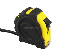 one lock high quality rubber coated steel tape measure, measuring tape