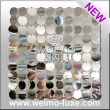 2016 New Shiny Sequin Disc PVC Decorative Wall Board