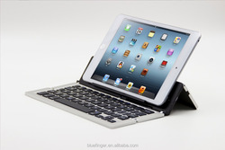 Bluefinger Aluminum alloy foldind Bluetooth keyboard for all mobile phones and tablets,applicable with IOS,Android system