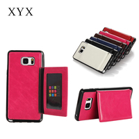 fashionale slim Phone Accessories business mobile phone pu case for samsung galaxy note 5
