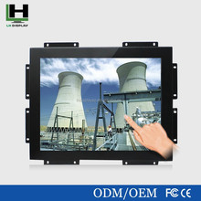 Hot sell of 15 Inch 4:3 1024*768 Square Metal Shell Open Frame Touch monitor