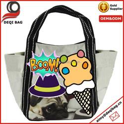 Cotton Canvas Personalized Tote Bag Travel Souvenir Bag
