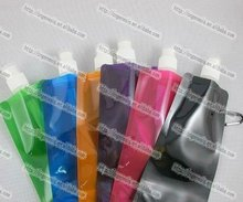 Hot portable drinking plastic water bag,PE foldable water bag,drinking water in plastic bag