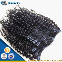 bottom price wholesale 7pcs virgin malaysian human hair kinky straight clip in hair extensions for african american hair