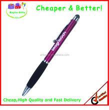 Factory prices twist action metal pen promotional metal touch pen logo stylus pen