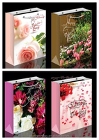 promotional new style beauty flower paper bag for gift