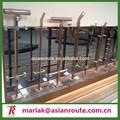 balustrade de verre inox, verre creux solide main courante, garde-corps balustrade