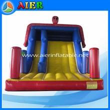 Spiderman inflatable slide, spiderman big hand slide, small size spiderman bouncer slide