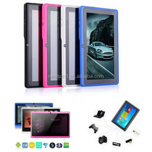 """7"""" allwinner a33 q88 tablet pc android 4.0 1.2ghz ram ddr3 512mb rom 4gb free sample tablet pc"""
