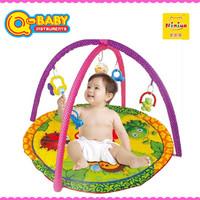 Niniya cheap funny folding baby activity mat with rattle toys