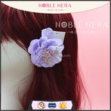 Elegant purple flower color hair clip crocodile hair clip