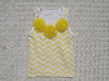 china wholesale fancy girl clothes baby chevron top baby t shirt