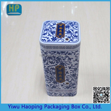 fancy design Chinese style pill tin box with lid ,metal tin case for medicine wholesale