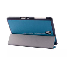 blue folding PU leather case for Samsung GALAXY Tab S T700