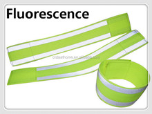 Wholesale green velcro adjustable length reflective ankle bands