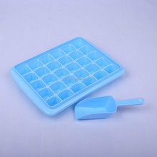 cheap 30 compartment square shape plastic ice mold cube tray with lid