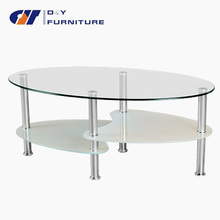 table verre ovale ikea