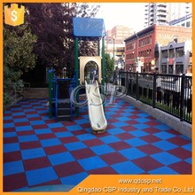 Easy drainage colorful playground rubber floor, sports ground rubber fl