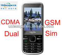 cdma gsm dual sim mobile phone OEM MOQ is 10000PCS