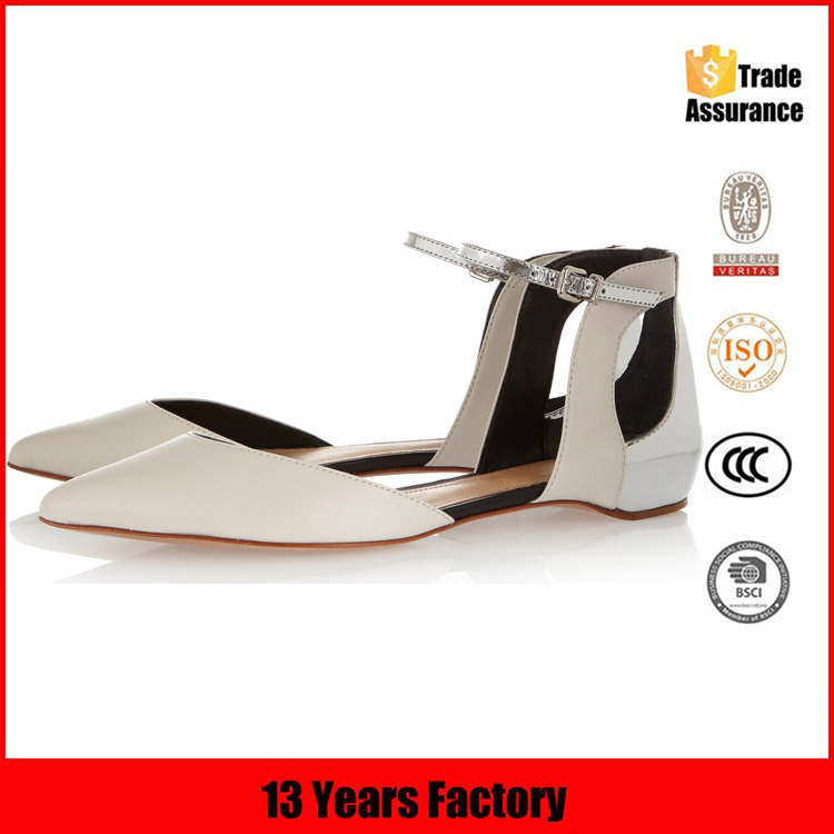 2015 new model pure leather women casual flat shoes comfortable shoes