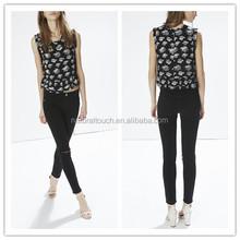 High quality LA style destroyed wash skinny fit women leggins ladies denim jeans NT135