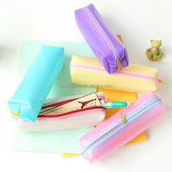 Eco-friendly custom clear PVC pencil box or for cosmetic