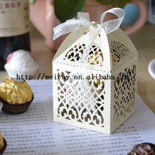 Paper product souvenir items for birthday ! Filigree laser cut baby shower favor boxes for Baptism