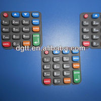silicone rubber key pad for tv remote control customized silicone keypad for machine number keypad