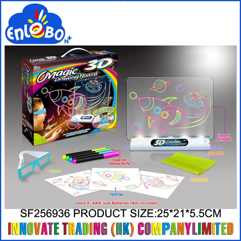 kids drawing play set funny educational toys 3d magic drawing board