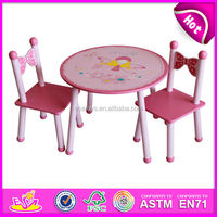 Lovely wooden table and chairs toy for kids,cute wooden toy table and chairs for children,hot sale table and chairs W08G076