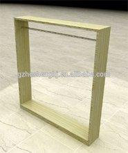 vestuário vitrine de exibição de prateleira de madeira para pendurar roupas