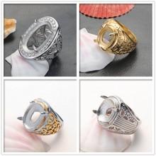 indonesia fashion man best price titanium rings for gemstone