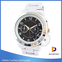 Japan Movement, Luxury Quartz Chrome Man Watch