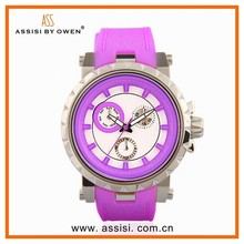 Assisi brand All Kinds Of Colors Waterproof Geneva Watch Women Men Sports Unisex Long Battery Life Watches Wholesale Silicone
