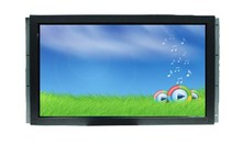 27inch Open frame LCD touch monitor.No frame LCD monitor,metal black front with frameless SAW/Resistive/IR touch screen