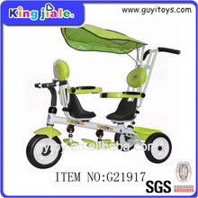 Double seat tricycle children pedal car