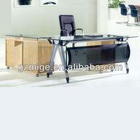Modern glass office desktop tables