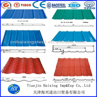 Galvanized steel roof support beams