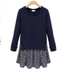 D24227Q 2014 the new winter Europe fashion women long sleeve knitted dress