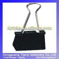 Paperback black tail Binder clip black binder clip