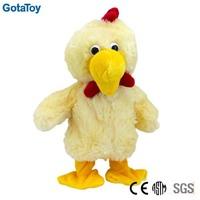 High quality custom singing walking plush chicken
