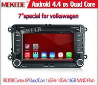 Android 4.4.4 car GPS DVD Player for VW Passat B6 Golf MK4 Bora Polo Jetta CC Touran Seat Leon GPS Quad Core 1024*600 WIFI 3G