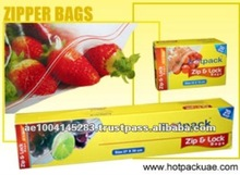Food Packing Clear Cover PVC Plastic Zipper Bags